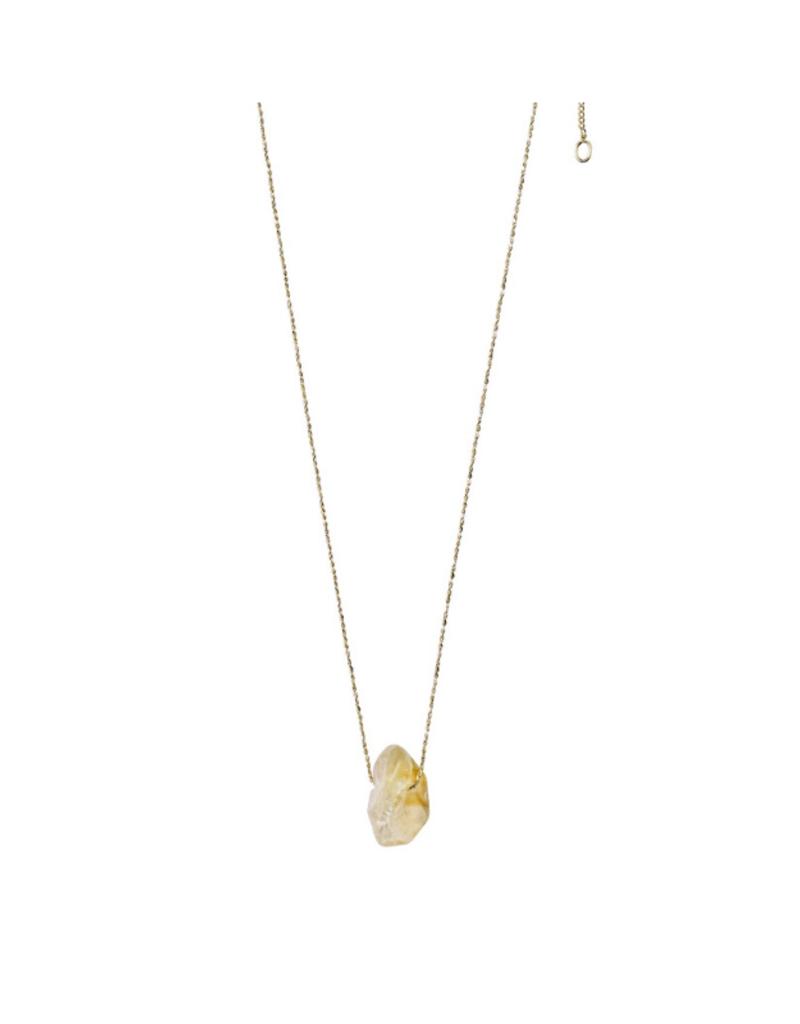 PILGRIM Pilgrim Necklace Gold Solar Plexus Chakra Citrine