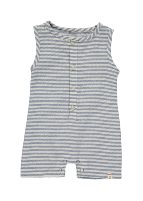 Me & Henry Stripe Playsuit Blue and White by Me & Henry
