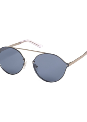 PILGRIM Pilgrim Zadie Sunglasses in Silver Plated Blue