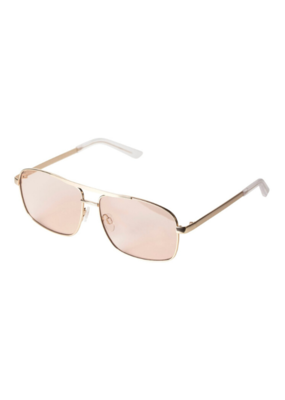 PILGRIM Cruz Gold-Plated Sunglasses in Rose by Pilgrim