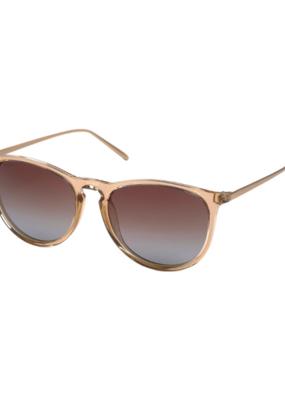 PILGRIM Pilgrim Vanille Brown Sunglasses in Transparent Nude