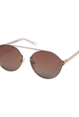 PILGRIM Zadie Gold-Plated Sunglasses in Brown by Pilgrim