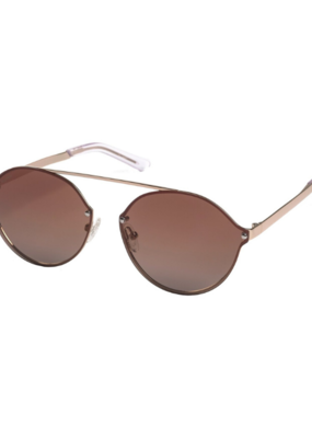 PILGRIM Pilgrim Zadie Sunglasses in Gold-Plated Brown