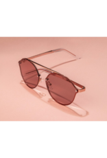 PILGRIM Pilgrim Zadie Sunglasses in Rose-Gold Plated Rose