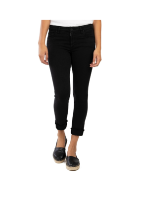 Kut from the Kloth Amy Crop Straight Leg in Black by Kut from the Kloth