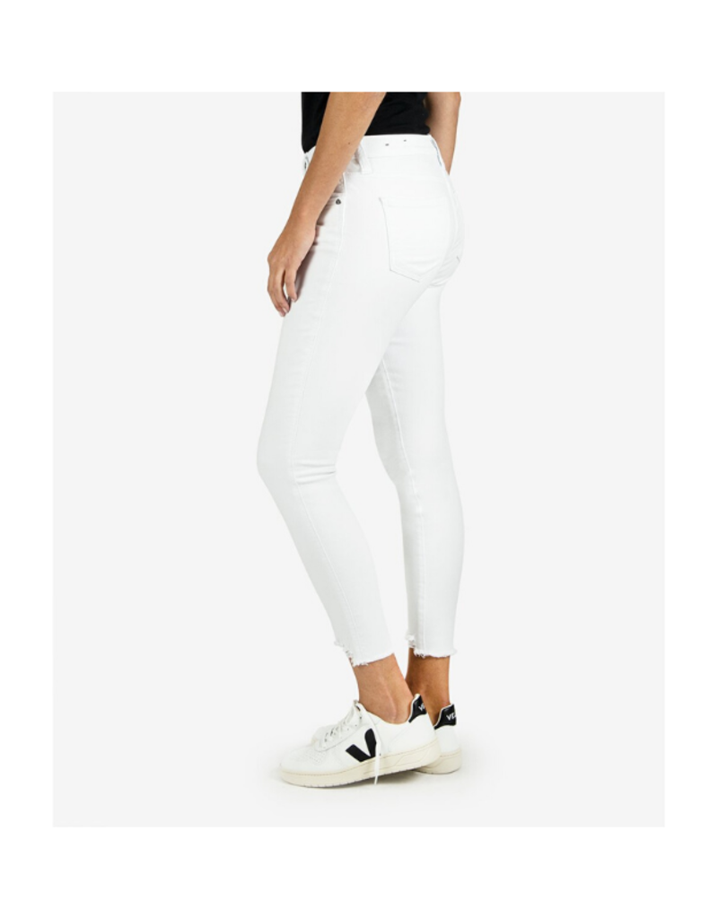 Kut from the Kloth Connie High Rise Slim Fit Ankle Skinny in Optic White by Kut from the Kloth