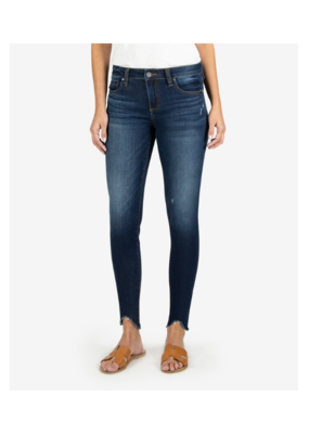 Kut from the Kloth Connie Slim Fit Ankle Skinny with Fray in Taste Wash by Kut from the Kloth