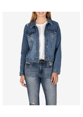 Kut from the Kloth KUT Amelia Denim Jacket in Society Wash
