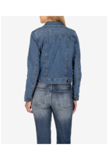 Kut from the Kloth Amelia Denim Jacket in Society Wash by Kut from the Kloth