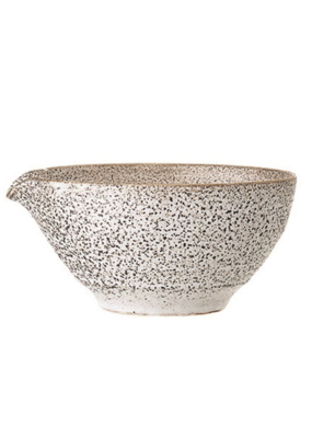 Bloomingville Stoneware Batter Bowl in White Reactive Glaze