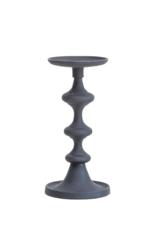 Bloomingville Pillar Candle Holder in Matte Black