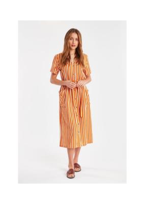 ICHI ICHI Julle Dress in Jaffa Orange