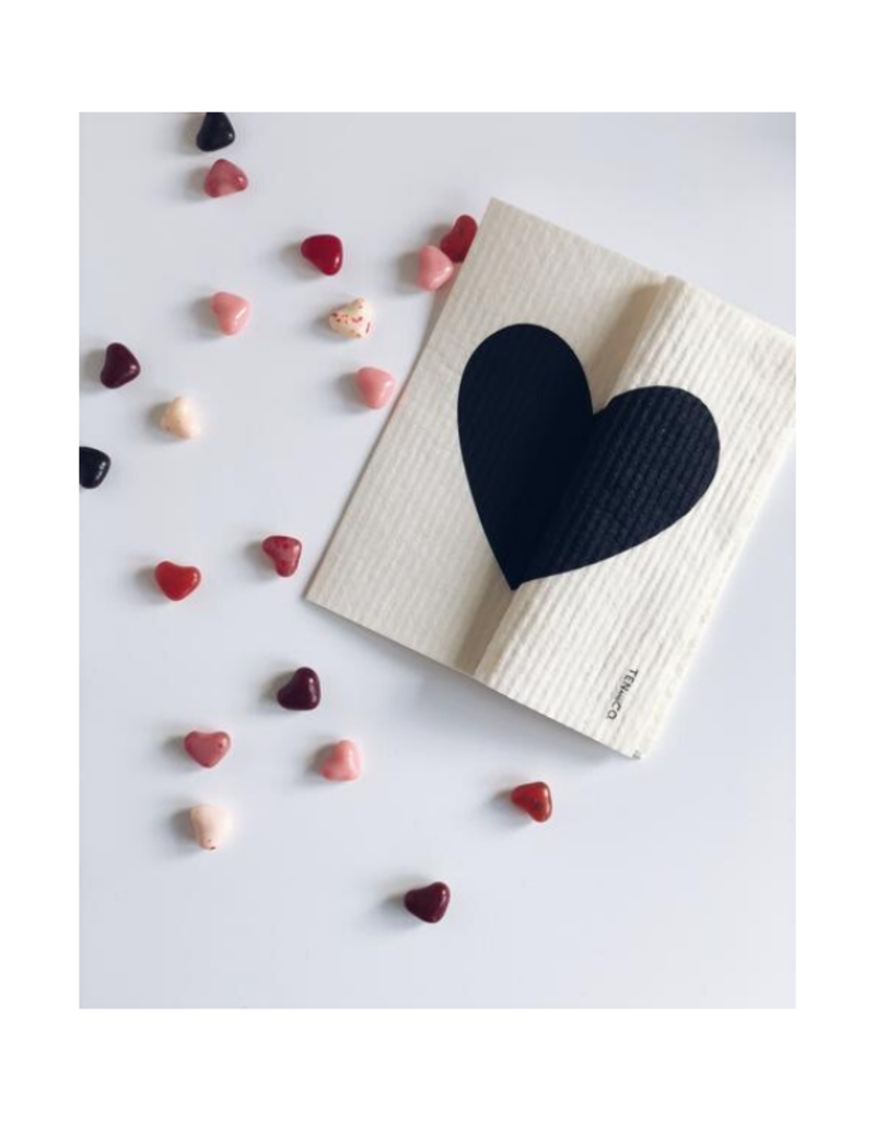 Ten & Co. Swedish Sponge Cloth Big Love Black & White