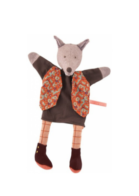 Moulin Roty Moulin Roty Gentleman Wolf Hand Puppet