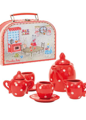Moulin Roty Moulin Roty Red Tea Set