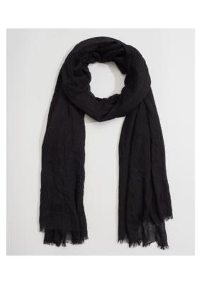 Echo Solid Crinkle Wrap Black