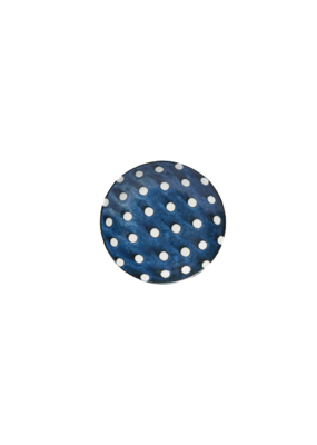 Porcelain Bowl Blue with Polka Dots