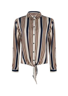 Esqualo Blouse Stripes with Knot