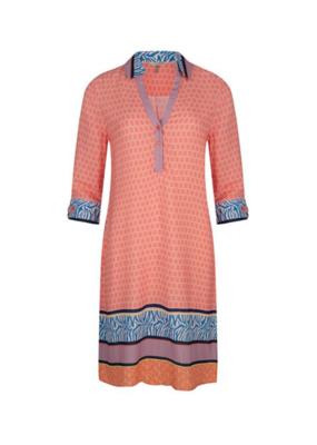 Esqualo Dress with Collar Geomix Print