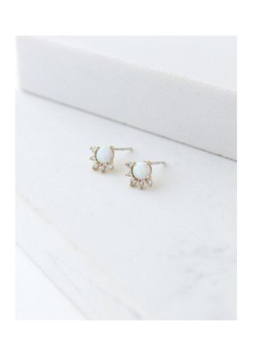 Lover's Tempo Lover's Tempo Juno Stud Earrings Gold & Opal