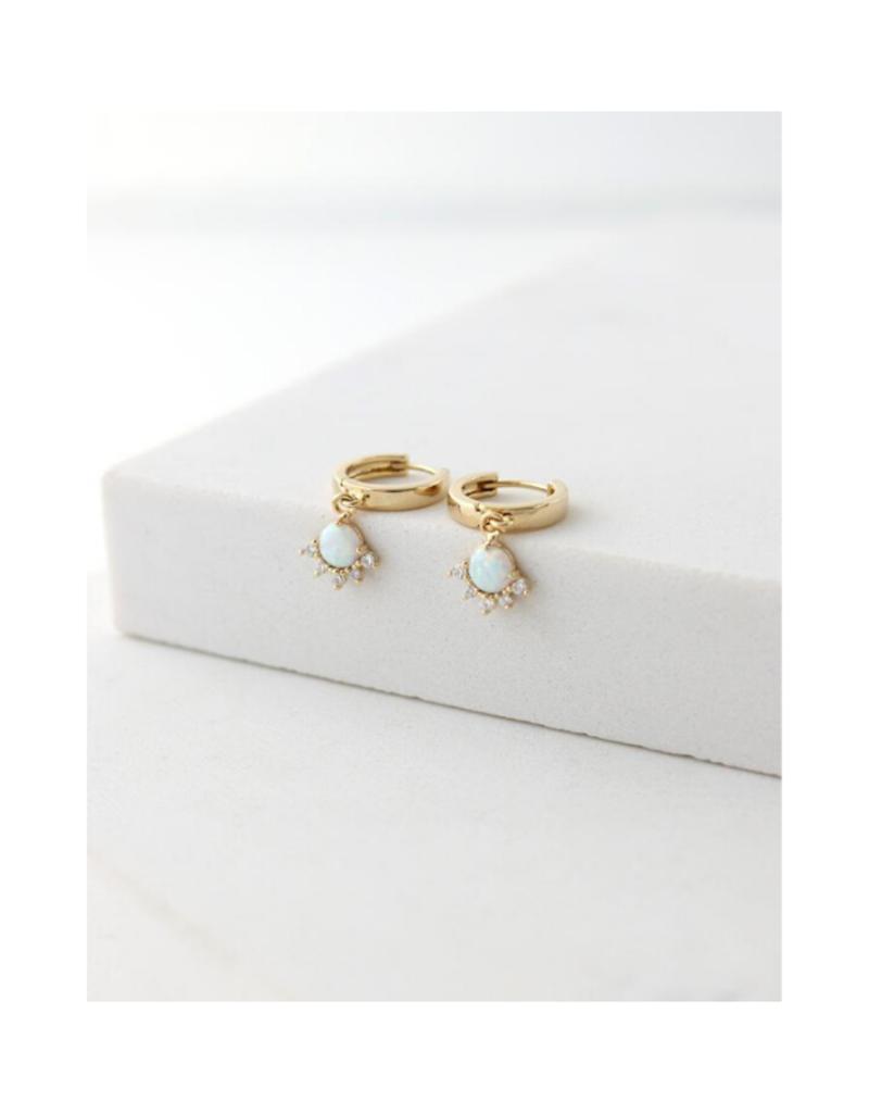 Lover's Tempo Lover's Tempo Juno Hoop Earrings Gold & Opal
