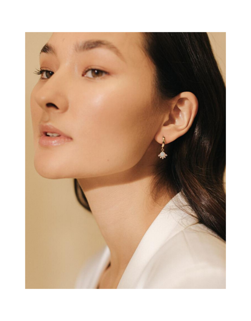 Lover's Tempo Lover's Tempo Juno Hoop Earrings Gold & Opal