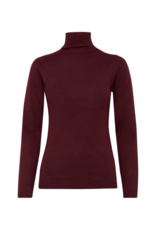 ICHI Mafa Turtleneck Sweater in Winetasting By ICHI