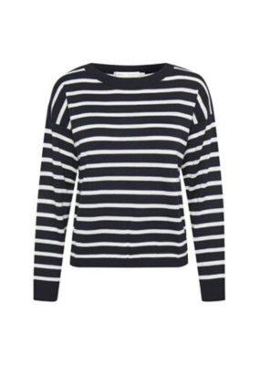 InWear InWear Mira Stripe Sweater Marine Blue