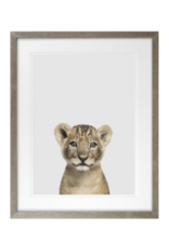 Baby Lion Framed Art 16x20