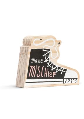 Make Mischief Wooden Wall Art