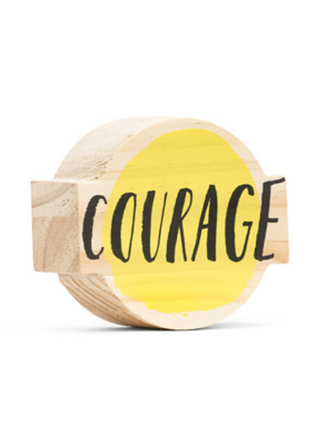 Courage Wooden Wall Art