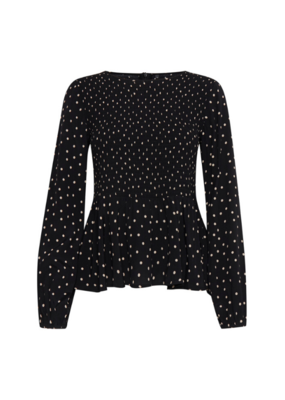 b.young b.young Fatima Smock Blouse Black