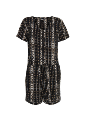 b.young b.young Playsuit Hailey Black Tribal