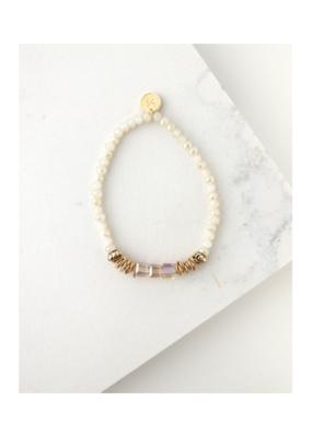Lover's Tempo Lover's Tempo Marilla Stretch Bracelet Marshmallow