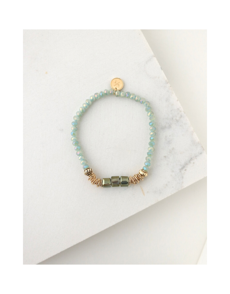 Lover's Tempo Lover's Tempo Marilla Stretch Bracelet Mint