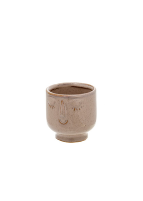 Friendly Face Pot Small in Heather