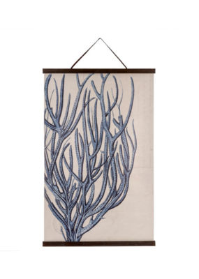 Blue Coral Linen Wall Hanging
