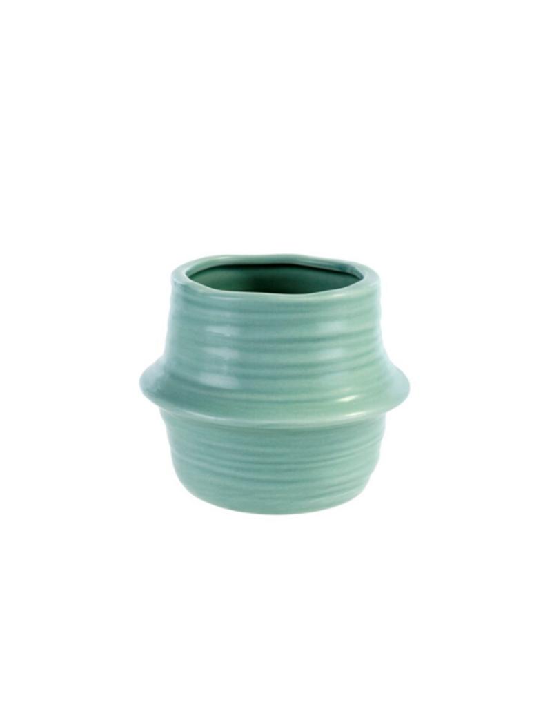 Belly Basket Pot Seafoam Small