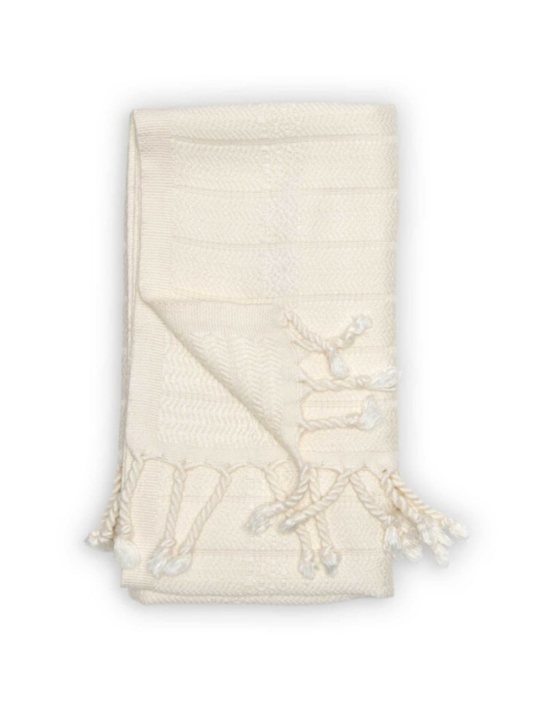 Bamboo Turkish Hand Towel in Cream