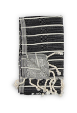 Pokoloko Bamboo Turkish Hand Towel in Black Monochrome