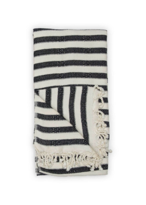 Zebra Bamboo Turkish Towel in Black