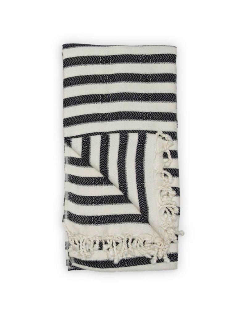 Zebra Bamboo Turkish Towel in Black
