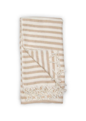 Zebra Bamboo Turkish Towel in Beige