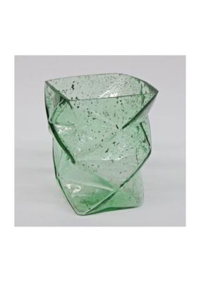 Recycled Zig Zag Green Vase