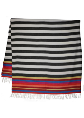Fraas Throw Beach Stripe Black