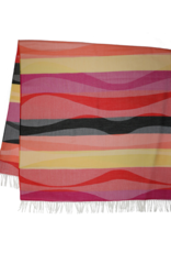 Fraas Waves Lightweight Throw Red