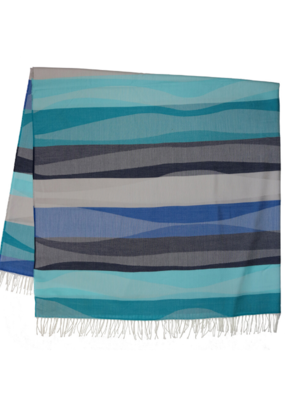 Fraas Waves Lightweight Throw Turquoise
