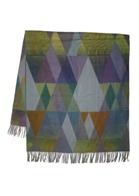 Fraas Throw Grad Triangles Silver