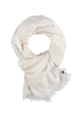 v.fraas Fraas Metallic Waves Scarf Off White