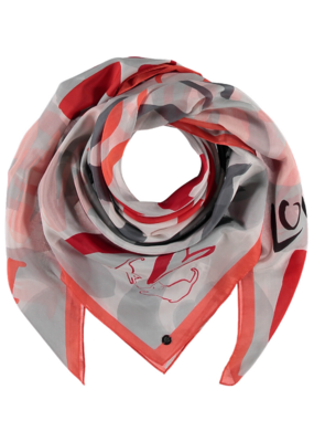 Fraas Lots of Love Scarf Red